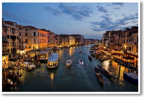 Venice Italy - Grand Canal From Rialto Bridge - NEW Italian World Travel Poster
