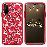 Pnakqil Funda Huawei P8 Lite / P9 Lite 2017 Roja Silicona con Navidad Dibujos Ultrafina Suave Carcasa Antigolpes TPU Bumper Protectora Piel Case para Huawei P8 Lite / P9 Lite 2017, Navidad