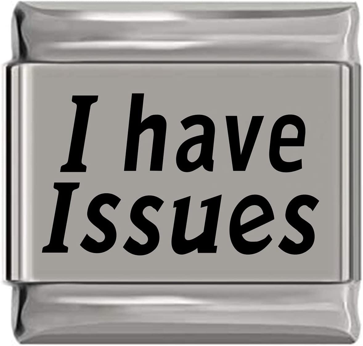 I Have Issues Ranking TOP4 Price reduction Laser Engraved Charm Italian