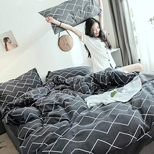 yaonuli bed van gewassen katoen, katoen, dekbedovertrek uit vier delen, veer 1,5 cm (5 voet)