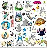 ZJJHX Miyazaki Animated Totoro Set Cute Personalidad Equipaje Travel Box Sticker Trolley Case Laptop Stickers 40 Piezas