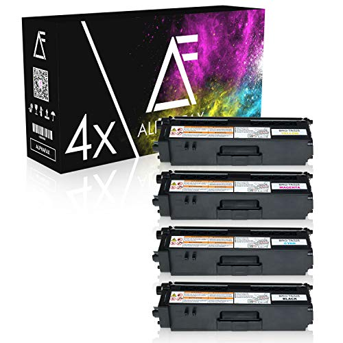 Alphafax 4 Toner kompatibel für Brother TN325 für Brother DCP-9055CDN 9270CDN, HL-4140CN 4150CDN 4570CDW, MFC-9460CDN 9465CND 9970CDW - Schwarz je 4.000 Seiten, Color je 3.500 Seiten