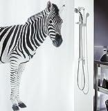 Spirella Anti-Schimmel Duschvorhang Zebra Savana Anti-Bakteriell, waschbar, wasserdicht Polyester 180x200cm