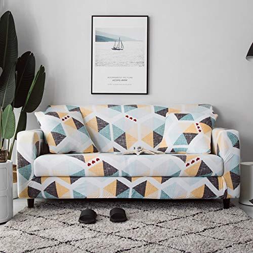 Fundas de sofá elásticas para Sala de Estar, Toalla de sofá, Funda de sofá Antideslizante, Funda de sofá elástica, Funda de Amor, Asiento A12, 2 plazas