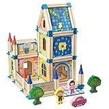 Czemo Juegos de Construcción Madera Puzzle 3D Casas Kit de Madera Juguetes Montessori para Niños y Niñas de 2 3 4 Años