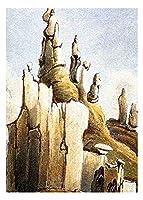 カール・ボドマーによるネイティブアメリカン 油絵インテリア アートポスター 絵画 飾り絵 複製名画プレゼント-リビング 、ダイニング 、オフィス 、バー、お風呂、寝室(20x28cm-8x11インチ,フレームなし)