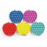 Push Populares Gadgets De Burbujas Para Autismo Necesidades Especiales Ansiedad Apretar Juguetes Sensoriales Silicona Alivio De Presión Juegos De Burbujas Juguetes Sensoriales Para Niñ(Color:2*5)