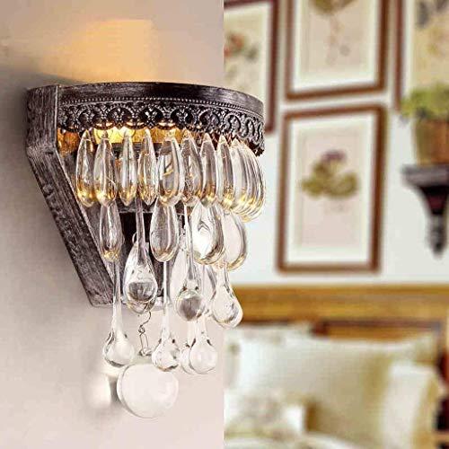 HYY-YY American Village Pared de Lujo Cristal de la lámpara Minimalista Moderna Sala de Estar Luces Restaurante Luces del Pasillo Luces del Dormitorio lámpara de cabecera