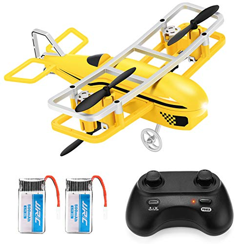 JJRC Mini Drone for Kids, RC Nano Quadcopter with Altitude Hold, Headless Mode, 3D Flip, One Key take Off and Landing and Speed Adjustment Airplane Helicopter Toy (Yellow)