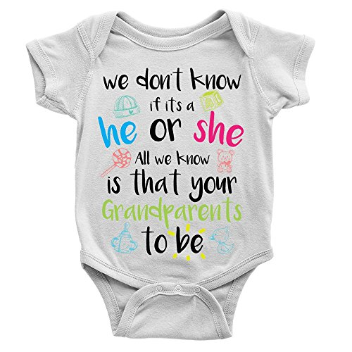 Kickass Tees Grandparents to Be Babygrow 0-3m White New Baby Announcement...