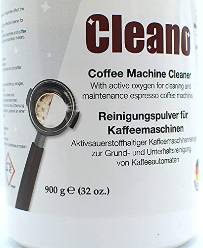CLEANO Spezial Reinigungspulver für Kaffeemaschinen und Siebträger 900g