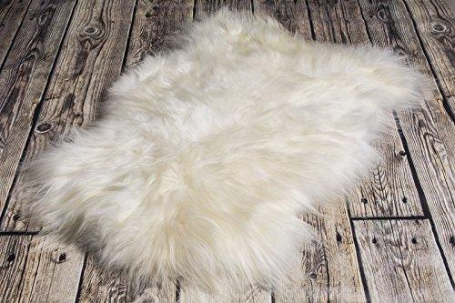 Qualität C | SCHAFFELL Lammfell NATURFELL SHEEPSKIN NEU CGR (Island, 100 cm)
