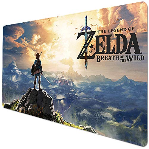 Bimormat XL Mouse Pad, Extended Gaming Mouse Pad Long Non-Slip Rubber Mouse Mat for Gamer, Office & Home (90x40 Zelda)