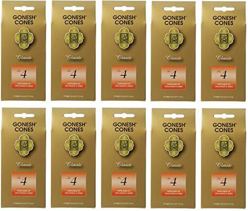 【10個セット】 GONESH(ガーネッシュ)インセンス コーン CLASSIC No.4 (お香)25個入り