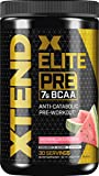 XTEND Elite Pre BCAA Powder Anti-Catabolic Pre Workout Drink with Branched Chain Amino Acids BCAAs, Watermelon Explosion, 30 Servings