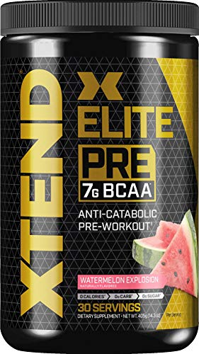 Scivation XTEND Elite Pre BCAA Powder Anti-Catabolic Pre Workout Drink with Branched Chain Amino Acids BCAAs, 30 Servings, Watermelon Explosion,(Pack of 1) 14.286 Ounce