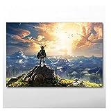 nr Poster und Drucke Videospiel The Legends of Zeldas Tapete Leinwand Wandkunst Gemälde für Wohnzimmer Decor-60x90cm No Frame