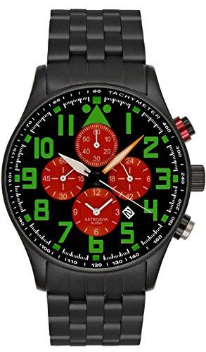 Astroavia V19S - Reloj de pulsera para hombre con alarma, cronógrafo, mecanismo de cuarzo
