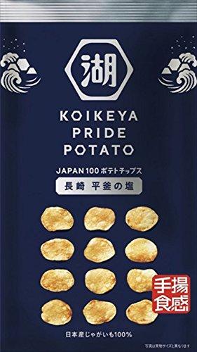 湖池屋 KOIKEYA PRIDE POTATO 手揚食感 長崎平釜の塩 60g×12袋