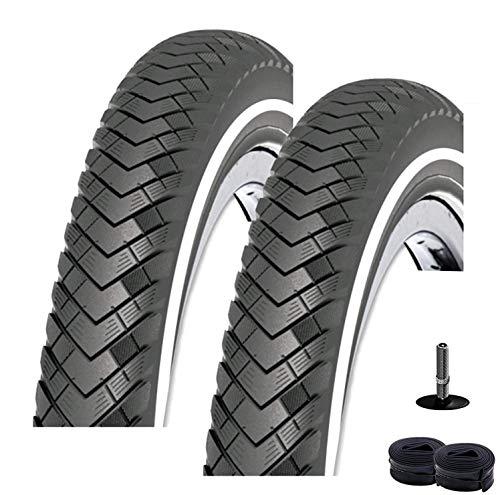 2X Rexway Conejo 03 Neumático de la Bicicleta Protección Asfalto Reflex 47-559 (26 X 1,75) + 2 Mangueras Av