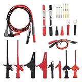 no-branded Kit de cables de prueba de 24 piezas intercambiables, multímetro electrónico con pinzas de cocodrilo.
