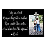 BILANA Only an Aunt can give Hugs Like a Mother, Aunt Christmas Custom Photo Frame, Aunt Auntie from Neice Nephew, Personalized Free