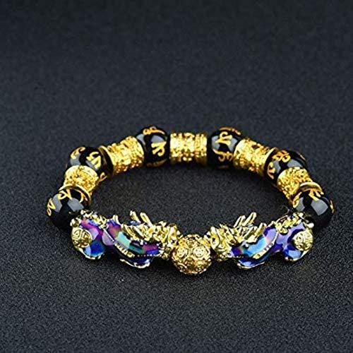 ZKZKK Good luck bracelet, Lucky Nafu Wealth Bracelet, Color Changing Pixiu Beaded Bracelets Attract Wealth and Good Luck Jewelry Attract Wealth and Good Luck