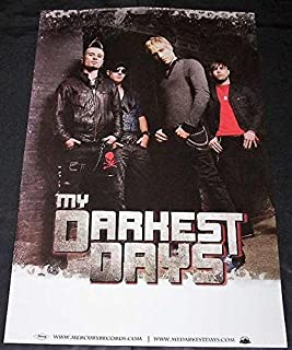My Darkest Days - Two Sided Poster - Rare - New - Matt Walst - Sal Costa - Brendan McMillan - Doug Oliver - Chad Kroeger - Move Your Body - Porn Star Dancing - Set It On Fire