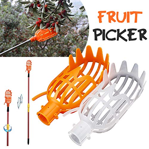 Naisicatar Kunststoff Obstpflücker Catcher Obst Pflücken Werkzeug, Garten Farm Garten Hardware Kommissionierung Device Tool Garten Gewächshäuser Werkzeuge orange