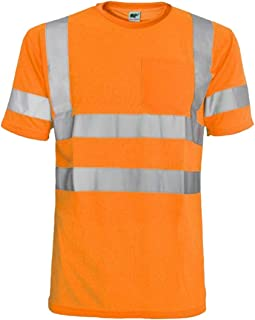 Hi Vis T Shirt ANSI Class 3 Reflective Safety Lime Orange Short Long Sleeve HIGH Visibility