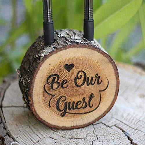TANGIST Decoración única para letrero de boda en forma de cubo de regalo para recién llegados, soporte para bolígrafo, regalo creativo de boda, práctica decoración de escritorio elegante y hermoso