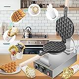 Vogvigo Waffle Maker, 1400W Bubble Gofrera con Sartén Antiadherente Profesional Egg Waffle Maker, para Inicio/Café/Street Food/Pastelería/Heladería(Single)