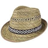 Lipodo Sombrero de Paja de Jornalero Mujer/Hombre – Made in Italy – Sombrero para el Sol – Sombrero de Playa Ligero con Adornos Elegantes – Primavera/Verano 54 cm
