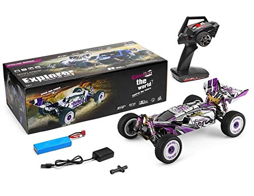 MODELTRONIC Professionelles RC-Auto Buggy Wltoys XKS 124019 Antrieb, 4 x 4 Sender 2,4 GHz, Maßstab 1:12, hohe Geschwindigkeit von 60 km/h mit 550 Motor