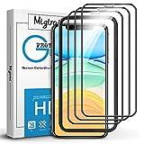 Migimi Protector de Pantalla para iPhone 11 Pro/iPhone X/XS, [3 Pack] Cristal Templado 9H Dureza Anti-Huellas Dactilares, Alta Sensibilidad, Vidrio Protectora para iPhone 11 Pro/X/XS (Negro)