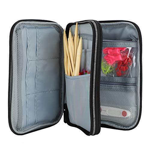 Kits de aguja doble puntiagudos, madera y plástico de tejer de punto de alimentación de bambú