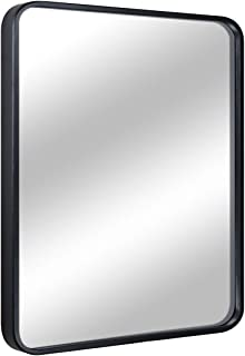 "EPRICA Bathroom Mirror for Wall, Large Wall Mirror, Black Rectangle Mirror, 1"" Metal Framed Mirror for Home Decor, Hangs Horizontal or Vertical (24"