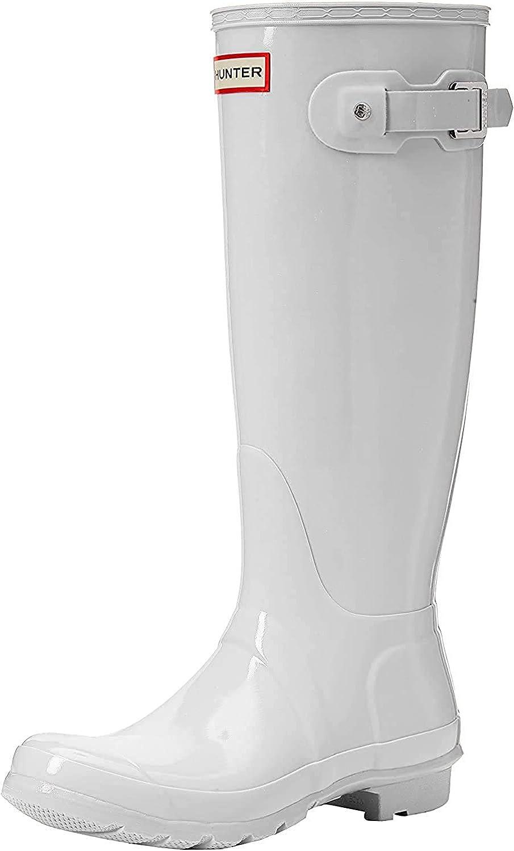 HUNTER womens Original Tall Gloss Rain Boots