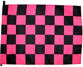 6 ft. Pink & Black Checker Safety Flag with 1/4