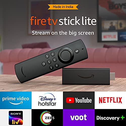 All-new Fire TV Stick Lite with Alexa Voice Remote Lite | Stream HD Quality Video | No power and...