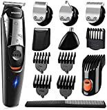 NAVANINO Beard Trimmer Hair Clippers Kits, Corded and Cordless Operated Hair Trimmer for Men, Multifunctional Hair/Beard/Razor/Nose/Precision Trimmer Grooming Kit 5 in 1 Waterproof