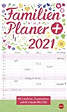 Familienplaner plus Tasche - Kalender 2021 - Heye-Verlag - Familienkalender - Mit 5 Spalten und viel Platz zum Eintragen - 21 cm x 45 cm - Küchenkalender