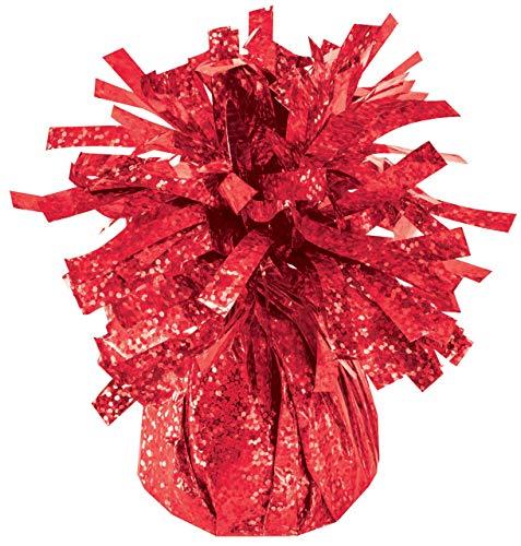Balloon Weights Holographic Red (1/Pkg) Pkg/12