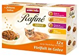 Animonda rafine Adult Chat futzter diversité en gelée, 4 x 12 Pack de Mix (48 x 100 g)