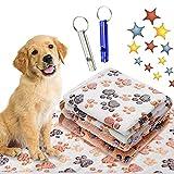 2 Stücke Hundedecke Kuscheldecke,76x52 Liegedecke für Hunde,Katzendecke mit Pfoten,Teppich Waschbar Haustiere,Flauschige Haustierdecke,Haustierdecke Hund,Haustierdecke