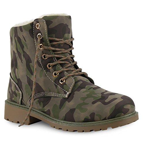 Worker Boots Warm Gefütterte Damen Herren Stiefeletten Knöchelhohe Stiefel Zipper Kunstfell SchnürerOutdoor Schuhe 130718Khaki 36 Flandell