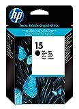 HP 15 Cartouche d'Encre d'Origine, Noir