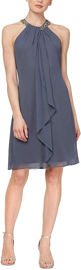 S.L. 高級な Fashions Women's Plus-Size Dress 新商品 新型 Jewel-Neck