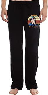 Elton Farewell Tour Yellow Brick John Man's Casual Jogger Drawstring Waist Long Sweatpants with Pockets Running Workout Pant