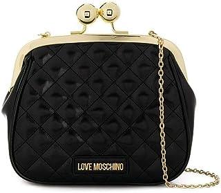Luxury Fashion | Love Moschino Womens JC4250PP08KA0000 Black Clutch | Fall Winter 19